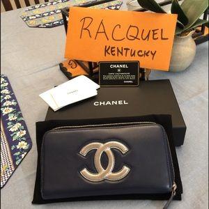 Chanel zippy long wallet